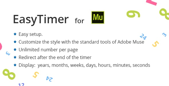 Easy Countdown Timer for Adobe Muse - CodeCanyon Item for Sale