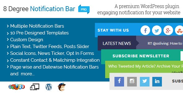 8 Degree Notification Bar Pro