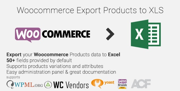 Woocommerce Export Products to XLS by nitroweb | CodeCanyon