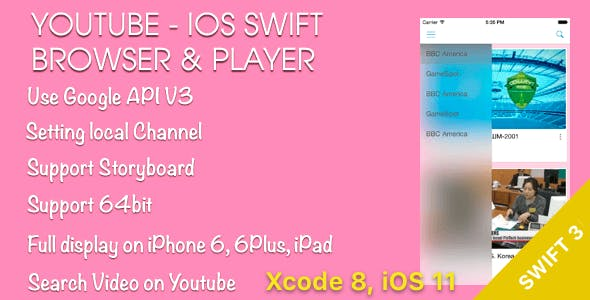 YouTube Browser and Player iOS Swift