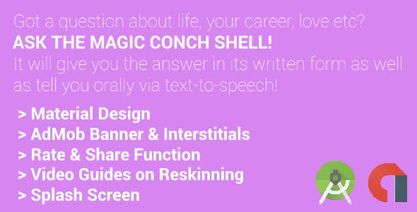 Magic Conch Shell with AdMob Banner & Interstitials | Spongebob-Inspired Android App