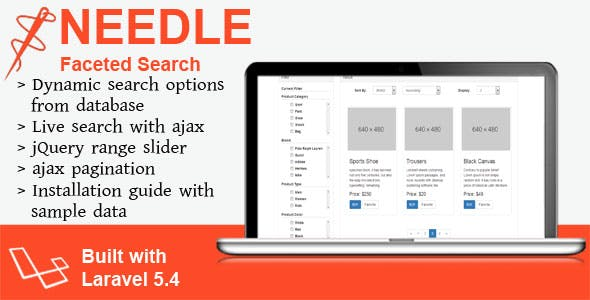 Needle - Laravel Faceted Search
