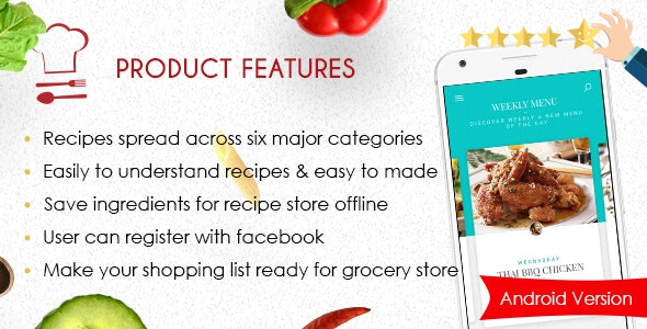 Foodie – Best Recipes Android App - CodeCanyon Item for Sale