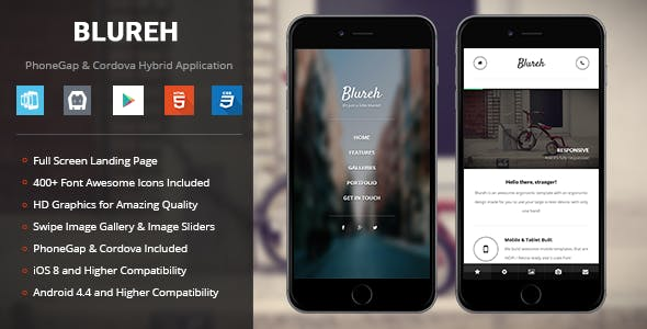 Blureh | PhoneGap & Cordova Mobile App