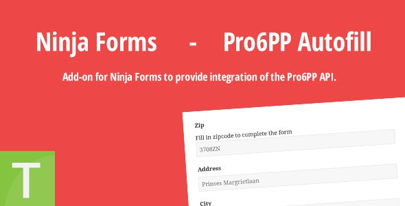 Ninja Forms - Pro6PP Autofill - CodeCanyon Item for Sale