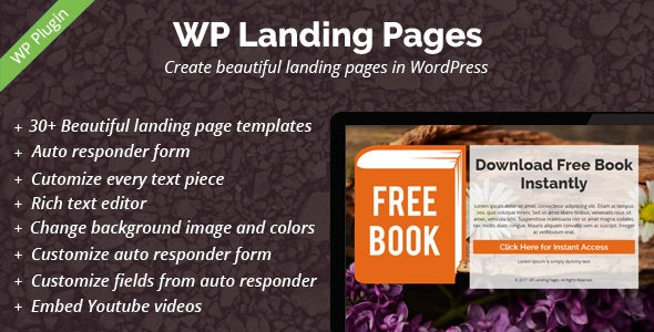 WP Landing Pages Pro - 30+ Landing Page Templates Included - CodeCanyon Item for Sale