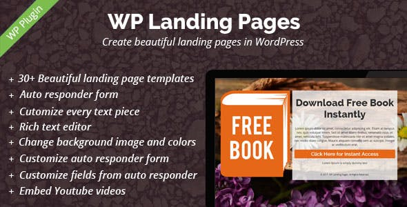 WP Landing Pages Pro - 30+ Landing Page Templates Included