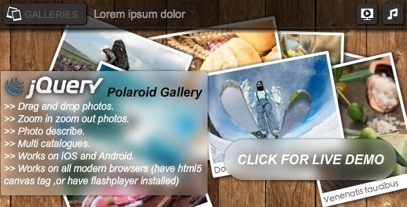 jQuery Polaroid Gallery Plugin - CodeCanyon Item for Sale