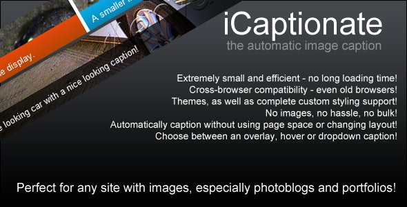 iCaptionate: automatic image captions - CodeCanyon Item for Sale