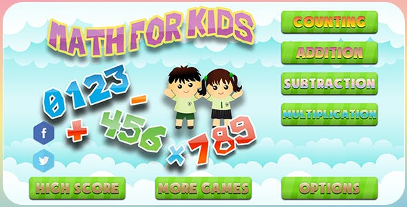 Math For Kids - HTML5 Kids Educational Game