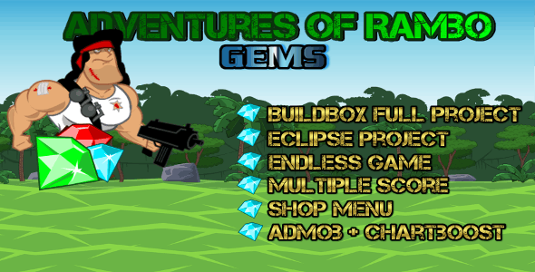 Adventure Of Rombo - Buildbox Game Template + Android Eclipse Project Template