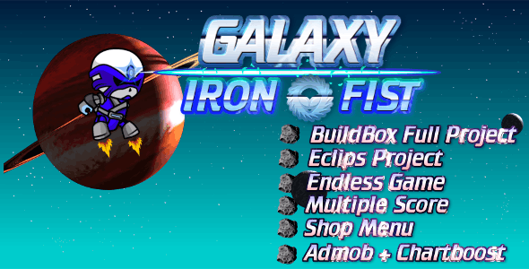 Iron Fast - Buildbox Game Template + Android Eclipse & Android Studio Project Template