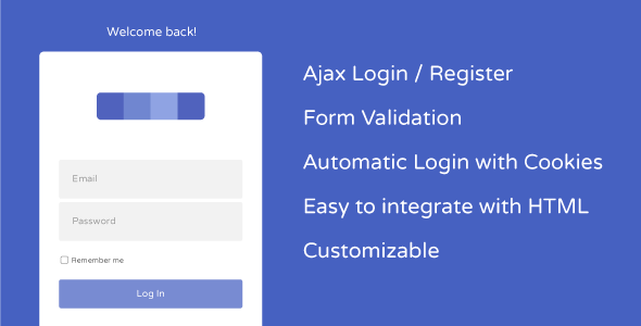 AJAX User Registration and Login with Cookie Autologin