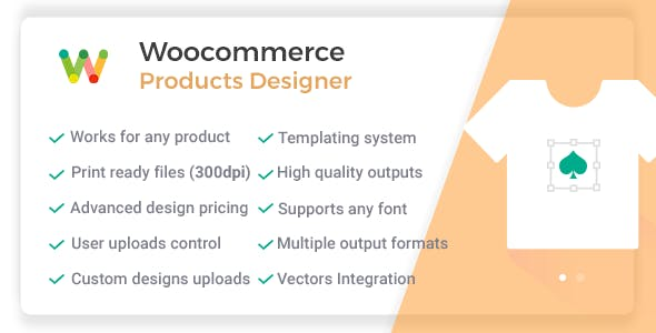 Woocommerce Products Designer - Online Product Customizer for Shirts, Cards, Lettering & Decals