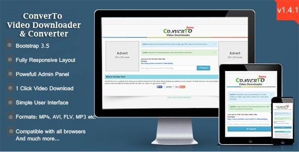 ConverTo Video Downloader & Converter - CodeCanyon Item for Sale