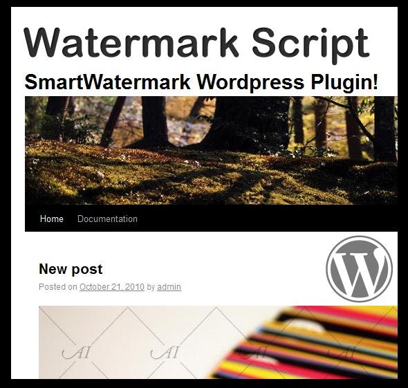 smartWatermark - wordpress plugin - CodeCanyon Item for Sale