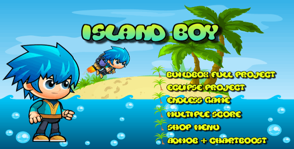 Island Boy - Buildbox Game Template + Android Eclipse Project Template