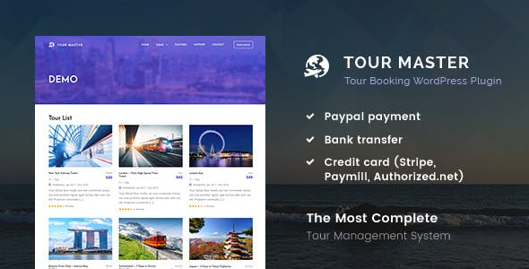 Tour Master - Tour Booking, Travel WordPress Plugin