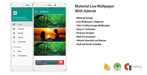 Material Live Wallpaper With Admob and Admin Panel - CodeCanyon Item for Sale