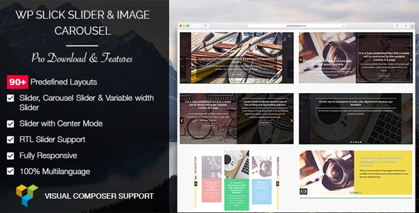 WP Slick Slider and Image Carousel Pro plus WPBakery Page Builder