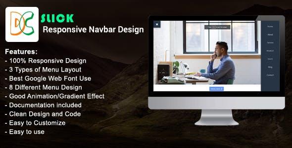 Slick - Responsive Navbar Design