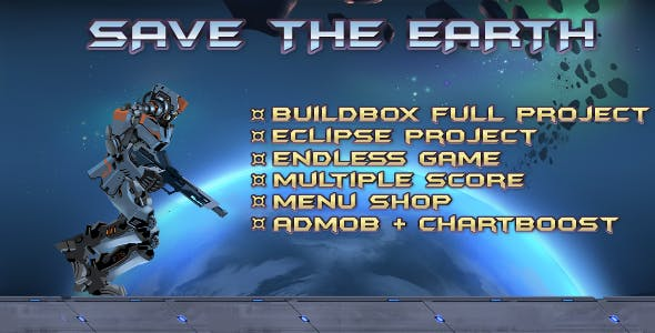 Save The Earth- Buildbox Game Template + Android Eclipse Project Template