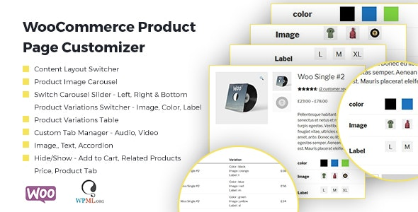 WooCommerce Product Page Customizer - CodeCanyon Item for Sale