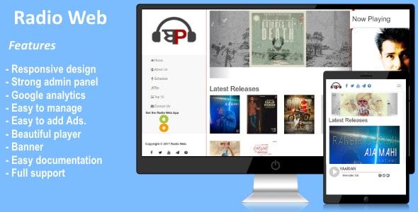 Radio Web PHP Script - CodeCanyon Item for Sale