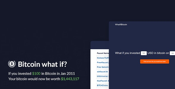 Bitcoin What If? - Historic Investment Calculator - CodeCanyon Item for Sale