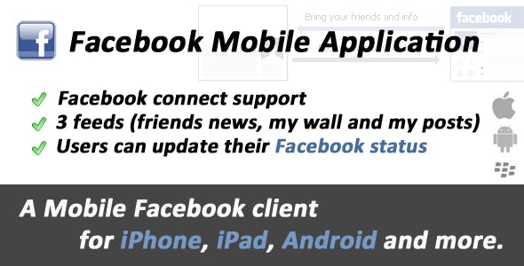 Facebook Mobile Web Application