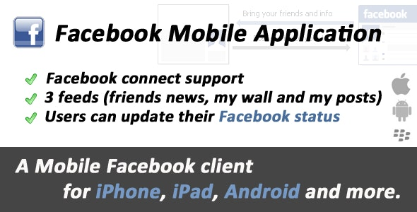 Facebook Mobile Web Application - CodeCanyon Item for Sale