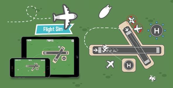 Flight Sim v1.8 – HTML5 Game