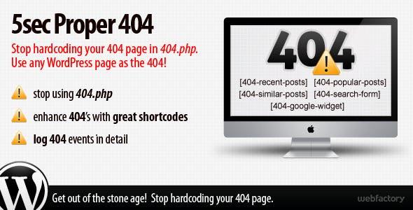 5sec Proper 404