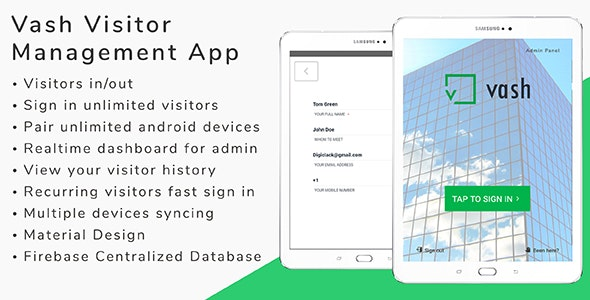 Vash 2 0 Visitor Management Android App By Zarsaeed Codecanyon