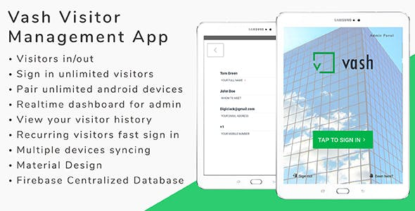 Vash - Visitor Management Android App