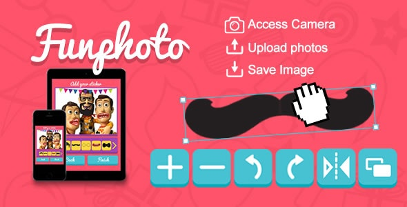 Funphoto (Stickers App) HTML5 Canvas - CodeCanyon Item for Sale