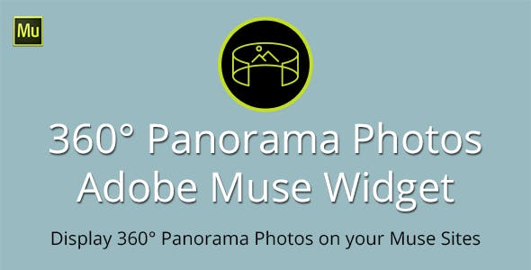 360° Panorama Photos Widget for Adobe Muse