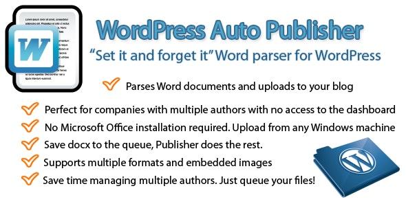 WordPress Auto Publisher - CodeCanyon Item for Sale
