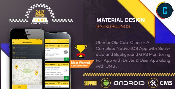 Taxi Booking App - A Complete Clone of UBER with User,Driver & Backend CMS Coded with Native Android