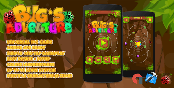 Bugs Adventure IOS XCODE Admob + Multiple Characters - CodeCanyon Item for Sale