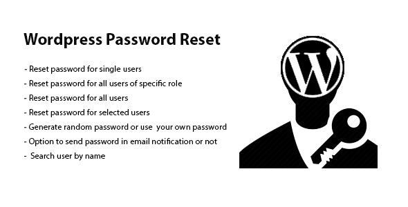Wordpress Password Reset - CodeCanyon Item for Sale