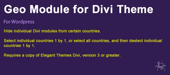 Geographic Module for Divi Theme - CodeCanyon Item for Sale