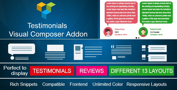 Testimonials Showcase for Visual Composer add on - CodeCanyon Item for Sale