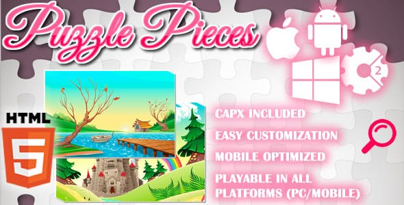 Puzzle Pieces - HTML5 Game (Capx)