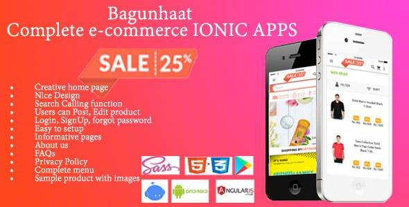 Bagunhaat– Complete e-commerce IONIC APPS