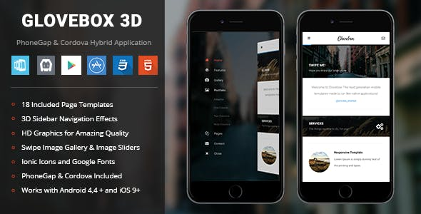 Glovebox 3D | PhoneGap & Cordova Mobile App