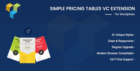 Simple Pricing Tables For Visual Composer
