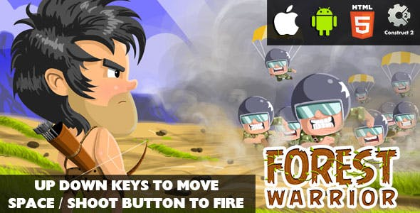 Forest Warrior - HTML5 Game (CAPX)