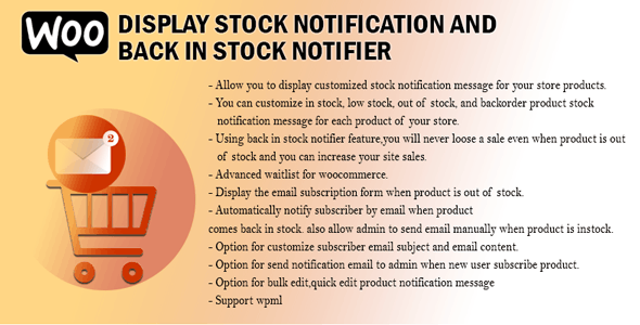 Woo Display Stock Notification And Back In Stock Notifier
