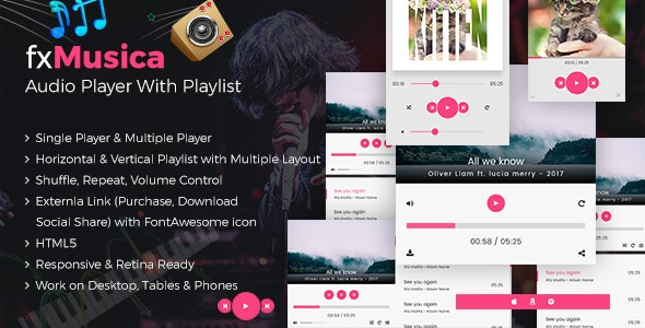FxMusica - Audio Player with Playlist - CodeCanyon Item for Sale